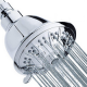 High-Pressure Shower Head 5-Setting 4 Luxury Chrome Shower Head