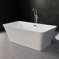 WOODBRIDGE White 67 Acrylic Freestanding Bathtub
