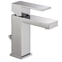 Delta Faucet Modern Single Hole Bathroom Faucet