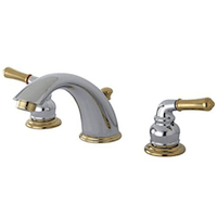 Kingston Chrome Polished Brass Widespread Lavatory Faucet