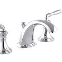 Kohler 2-Handle Metal Drain Widespread Bathroom Sink Faucet