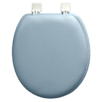 Ginsey Standard Soft Toilet Seat With Plastic Hinges